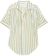 See by Chloé Eylet-embroidered cotton blouse