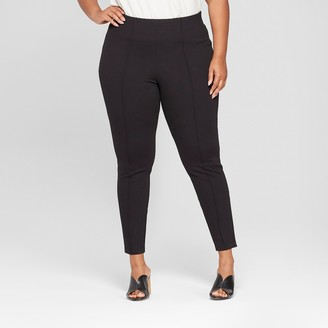 Ava & Viv Women's Plus Size Pull-On Ponte Pants with Comfort Waistband