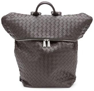 Bottega Veneta Leather Intrecciato Foldover Backpack
