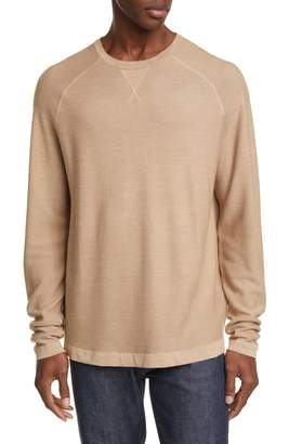 Ermenegildo Zegna Classic Fit Silk, Cotton & Cashmere Sweater
