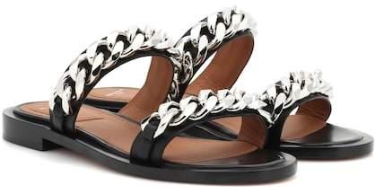 Givenchy Embellished leather slides