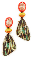 Alexis Bittar Dangling Woodgrain Earrings