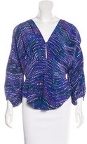 See by Chloe Silk Abstract Print Top