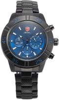 Shark Men's Sports 24-hour Display Chronograph Dial Steel Band Analog Quartz Wrist Watch SH301