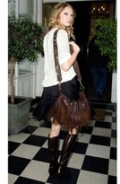 Mcfadin Handbags Classic Fringe Bag with Vintage Strap