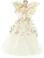 Camilla And Marc Festive Productions Fabric Angel Christmas Tree Topper, 23 cm - Gold/Cream