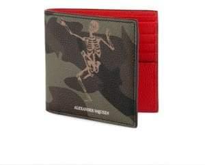 Alexander McQueen Leather Bi-Fold Wallet