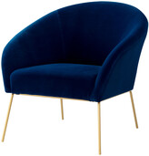 Nicole Miller Will Velvet Accent Chair