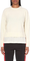 Joseph Silk-trim wool and cashmere-blend jumper