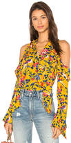 Tanya Taylor Adriene Top in Yellow. - size 0 (also in 2,4,6)