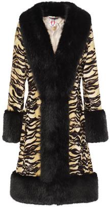Shrimps Vivien Tiger-print Faux Fur Coat
