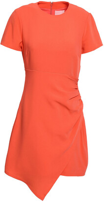 Cinq à Sept Imogen Ruched Crepe Mini Dress