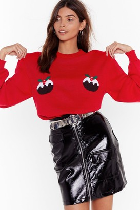 Nasty Gal Womens Proof is in the Pudding Christmas Sweater - Red