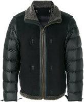 Ten C Ten-C padded textured jacket