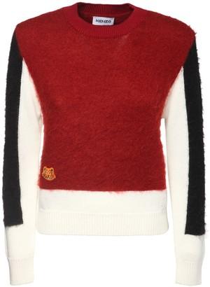 Kenzo Color Block Wool Blend Sweater