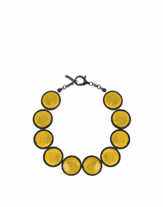 Moschino Necklace With Stones Woman Yellow Size U It - (one Size Us)