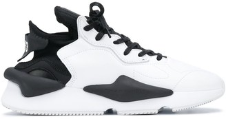 Y-3 Contrast Panel Lace-Up Sneakers