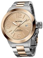 TW Steel 'Canteen' Quartz Gold and Stainless Watch, Color:Two Tone (Model: CB404)