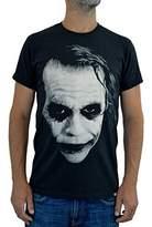 "Faces tshirt FACES Mens T-shirt ""JOKER HEATH LEDGER"" Water Colors Screen Print"