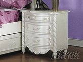 Acme 01013 Nightstand, Pearl Finish