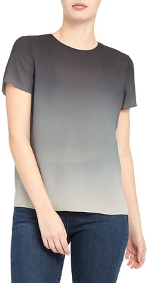 Theory Ombre Silk Georgette Top