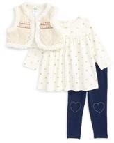 Little Me Infant Girl's Vest, Long Sleeve Shirt & Leggings Set