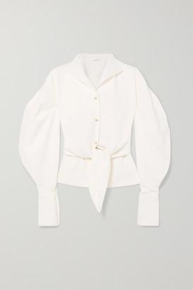 AAIZÉL + Net Sustain Tie-detailed Twill Shirt