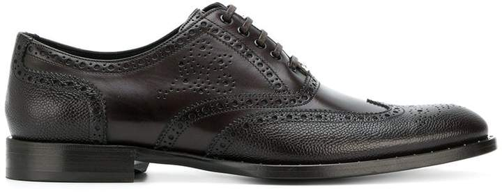 Dolce & Gabbana punch hole detailed Oxford shoes