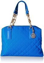 Tommy Hilfiger Isabella Quilted Nylon Satchel