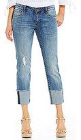 KUT from the Kloth Cameron Straight Leg Wide Roll-Cuff Capri Jeans