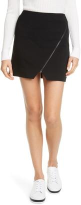 Alice + Olivia Barbra Asymmetrical Zip Miniskirt