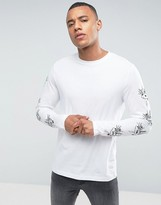 Brave Soul Long Sleeved Tattoo Print T-Shirt