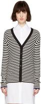 Proenza Schouler Black & White Striped Cardigan