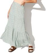 Juniors' Vylette Button Front Maxi Skirt