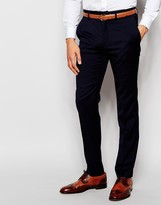 French Connection Plain Slim Fit Suit Trouser - Grey