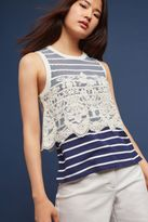 Anthropologie Goa Lace-Trimmed Tank Top