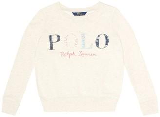 Polo Ralph Lauren Kids Embroidered cotton sweatshirt