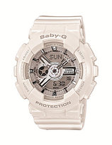 Baby-G White Resin Ana-Digi World Time Watch