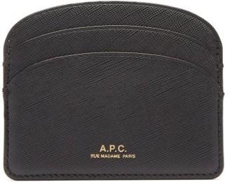 A.P.C. Half Moon Saffiano-leather Cardholder - Black