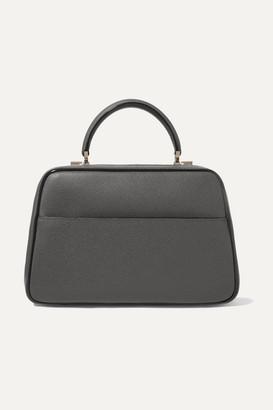 Valextra Serie S Medium Textured-leather Tote - Gray