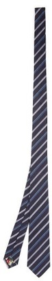 Paul Smith Striped Silk Tie - Navy