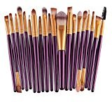Gacals Deed 20 pcs/set Makeup Brush Set tools (Purple/Gold)