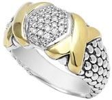 Lagos 'Diamond Lux' Caviar Beaded Ring