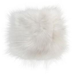 Mercer41 Icelandic Sheepskin Indoor Dining Chair Cushion Fabric: White
