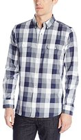 French Connection Men's Lifeline Karate Check Long Sleeve Button Down Shirt