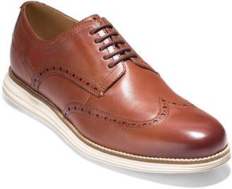 Cole Haan Men's Original Grand Leather Wing-Tip Oxford, Brown