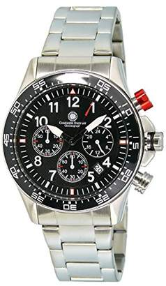 Gents Constantin Durmont Watch Chronograph Quartz Stainless Steel XL Spade CD Spad-Qz-STSTBKBK