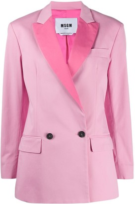 MSGM Two-Tone Double-Breastes Blazer
