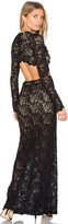 Nightcap Clothing Cut Out Wisteria Lace Gown