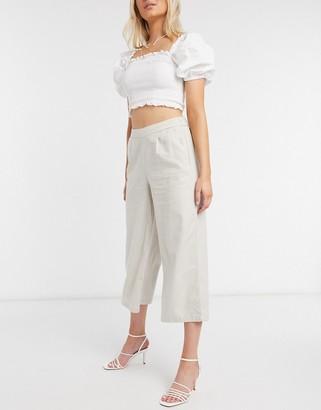 Only wide leg culottes in beige
